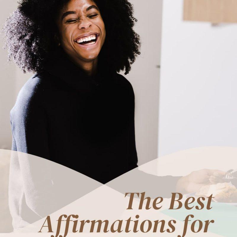 Woman recites affirmations