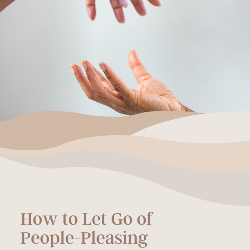 graphic of photo showing hands symbolizing letting go
