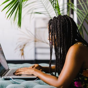 Woman attends a Balanced Black Girl Virtual Workshop